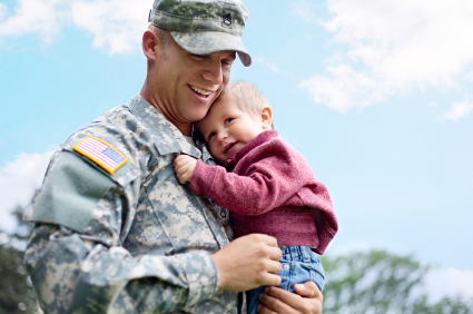 military child custody